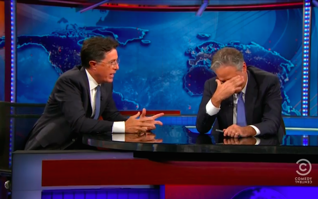 Oglądaj Jona Stewarta płaczącego dwa razy w finale Blockbuster Daily Show