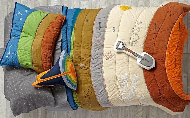 あなたの子供はこのカラフルな寝具で地質学について密かに学びます