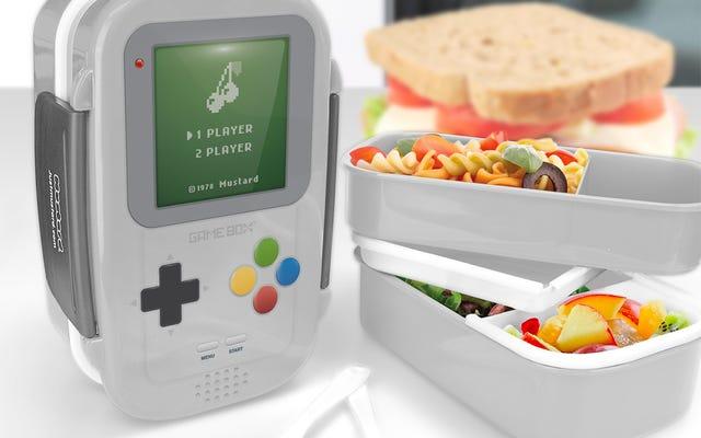 Mantenga sus potenciadores de la hora del almuerzo en esta caja Bento de Game Boy