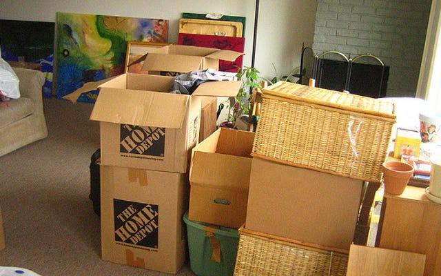 すべてのものを梱包して整理し、必要なものだけを開梱します