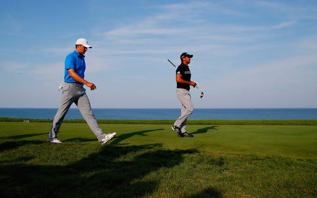 ゴルフはとても良い場所にあります