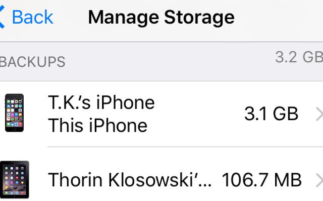 ลบข้อมูลสำรอง iPhone iCloud เก่าเพื่อเพิ่มพื้นที่ว่าง