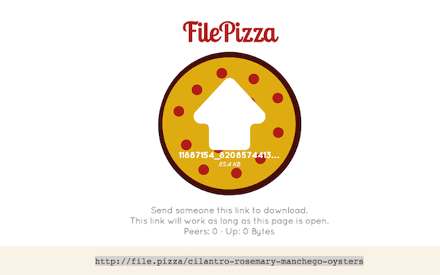 FilePizza udostępnia pliki w sieci peer-to-peer w przeglądarce internetowej