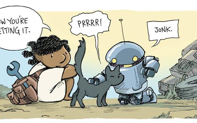 猫+かわいいロボット=史上最高のもの
