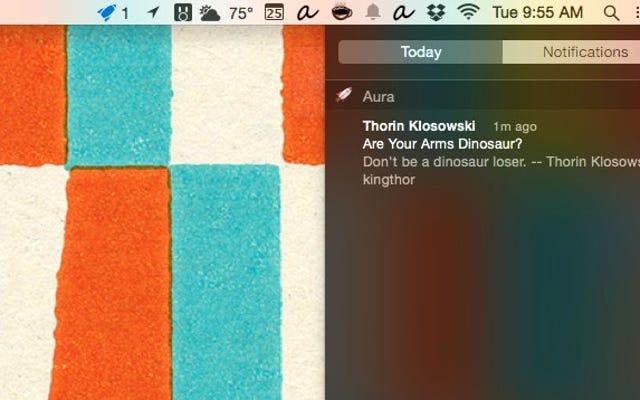 Aura trasforma gli avvisi di Gmail in notifiche native di OS X.