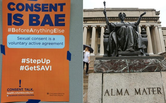 コロンビアの学生はすでに学校の新しい「同意はペ」キャンペーンを嘲笑している