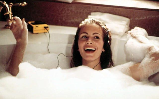 古典的な男:「女性は入浴する必要があります」