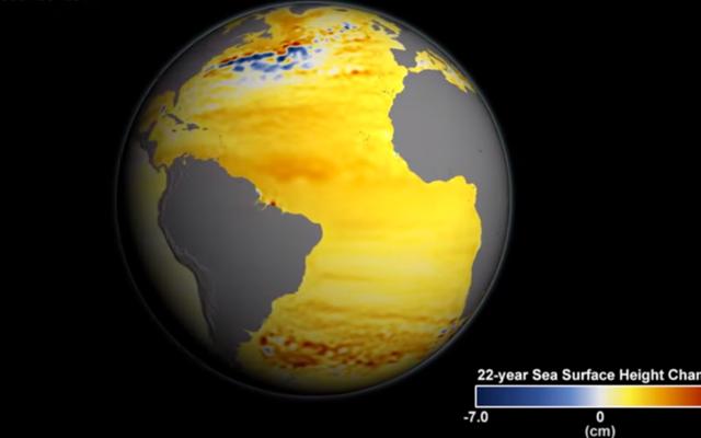 지구는 아마도 해수면 상승에서 최소 3 피트에 잠겨있을 것입니다