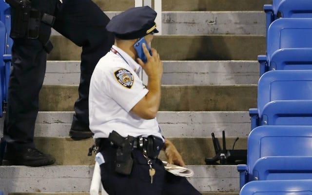 ครู NYC ที่ชนเสียงหึ่งๆที่ US Open เมื่อคืนนี้ถูกจับกุม