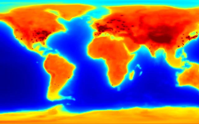 輝く反ニュートリノマップは、地球がどれほど放射性であるかを示しています