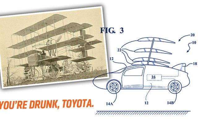 トヨタがプリウスを空から急落させる可能性のある特許を申請