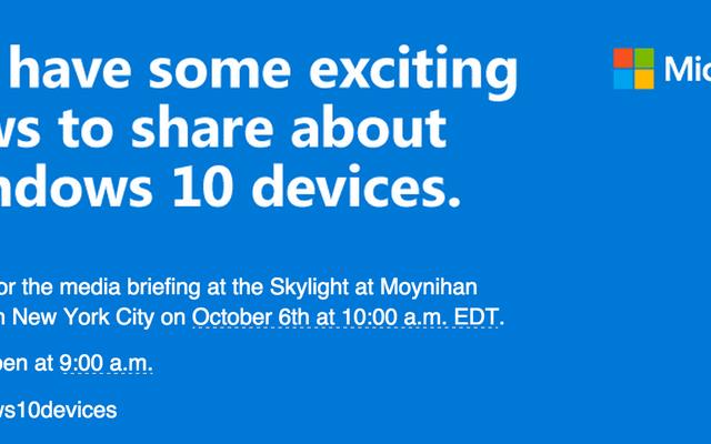 マイクロソフトは10月6日に多くの新しいWindows10デバイスを解き放ちます