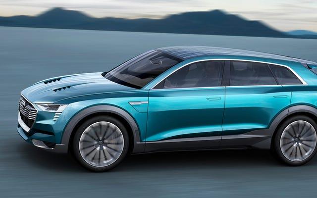 Le concept Audi E-Tron Quattro est l'autre grève de Tesla sous forme de crossover