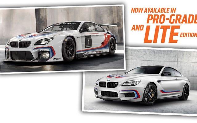 La BMW M6 GT3 e le edizioni da competizione hanno strisce M, molte strisce M.