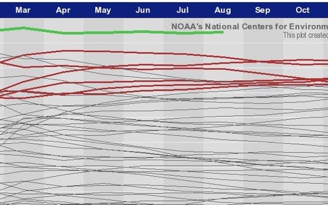 हमारे रिकॉर्ड-ब्रेकिंग ग्लोबल हीट वेव को एक क्षेत्र चार्ट में देखें