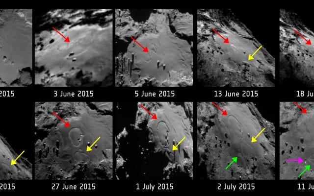 ロゼッタ彗星の表面で何か奇妙なことが起こっています