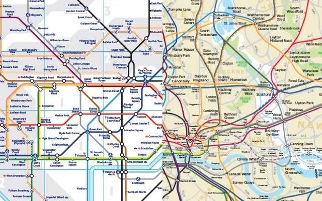 После 80 лет запутывания людей у лондонского метро появилась точная карта