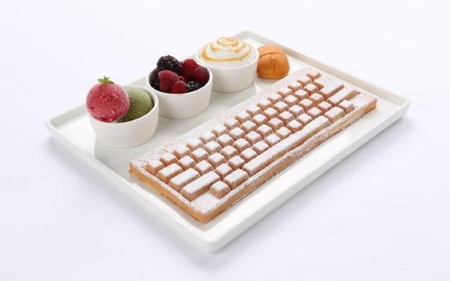WASD?このキーボードはワッフルです