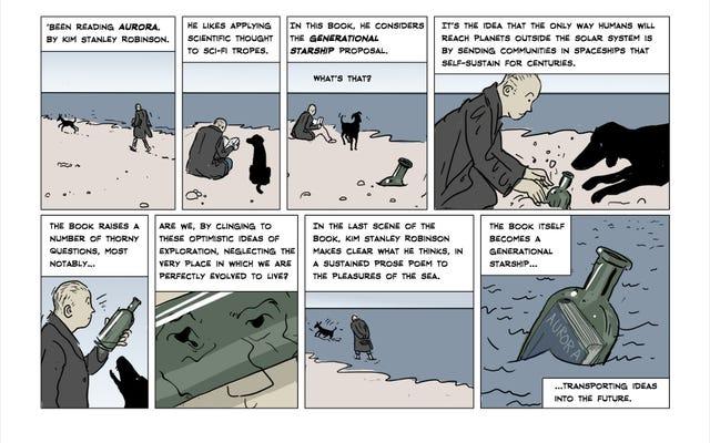 コミッククリットでは、キムスタンリーロビンソンのオーロラは地球のすべてです