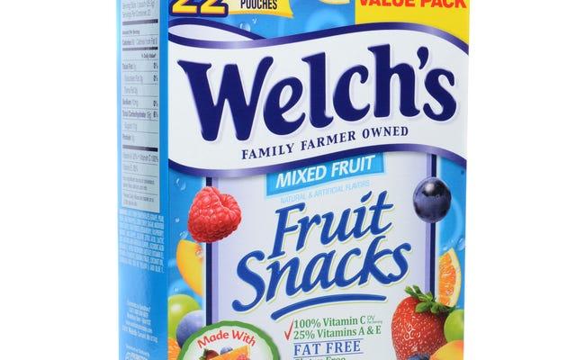 ผู้ปกครองฟ้องขนมผลไม้ของ Welch เพราะทำให้เด็กสับสนเกี่ยวกับผลไม้คืออะไร
