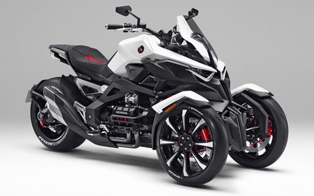 क्या होंडा तीन पहियों वाली मोटरसाइकिल बना सकती है जो चूसती नहीं है?
