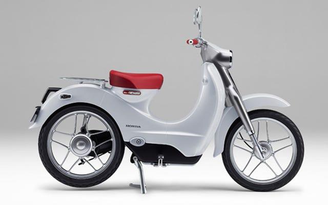 ホンダの電気レトロスクーターはベスパにかわいい安い輸送のライバルである可能性があります