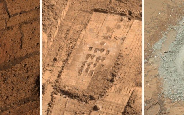Marcas de herramientas en Marte dejan un rastro de graffiti robótico