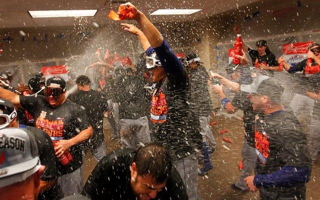 Tonton Mets Merayakan Meraih Melalui Kamera Di Kepala Michael Conforto