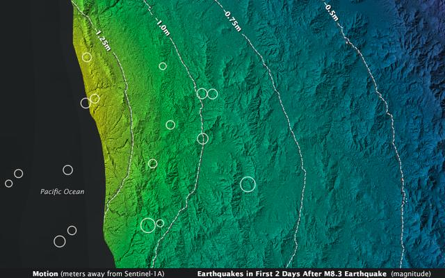 Niektóre części Chile przesunęły się o ponad metr podczas trzęsienia ziemi w Illapel