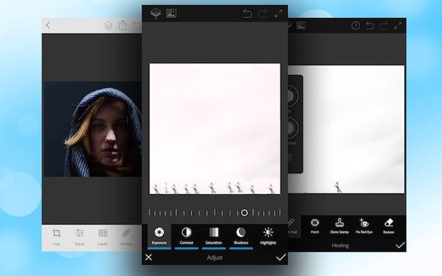 Photoshop Fix เป็นเครื่องมือตกแต่งรูปภาพอย่างง่ายสำหรับ iOS