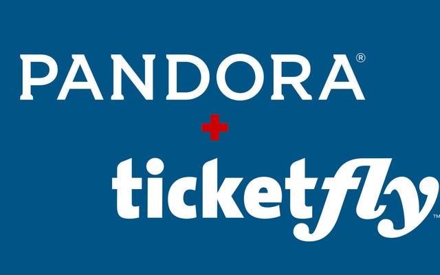 パンドラはちょうど5億ドル近くでチケットフライを購入しました