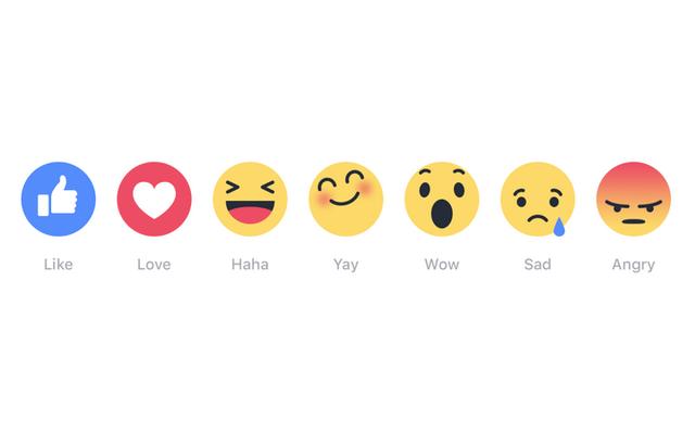 """Facebook đang thử nghiệm sáu biểu tượng cảm xúc phản ứng mới thay vì một nút """"Không thích"""""""