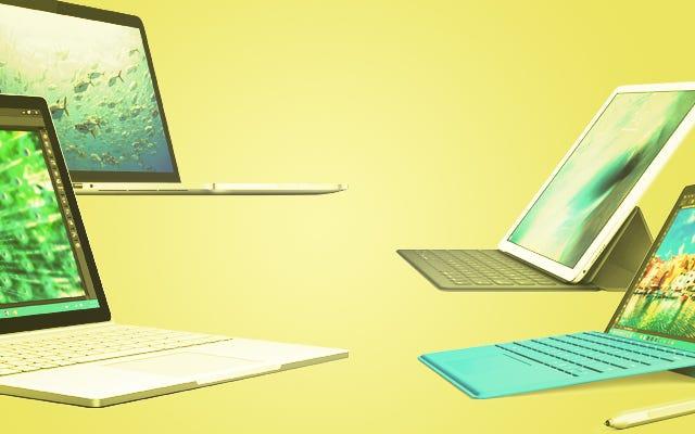 Microsoft SurfaceBookとMacBookPro:直接比較