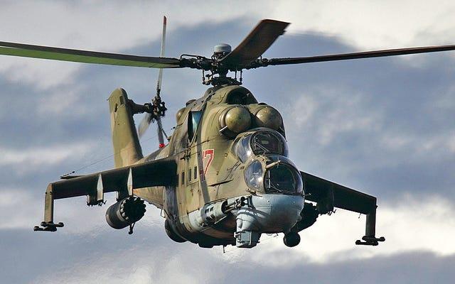 Video muestra helicópteros de ataque ruso Mi-24 Hind en intensa acción sobre Siria