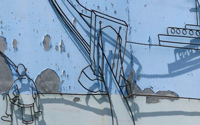 सुंदर DiY रेबार कला जो अभी भी पूर्व-समाजवादी इमारतों को सजाती है