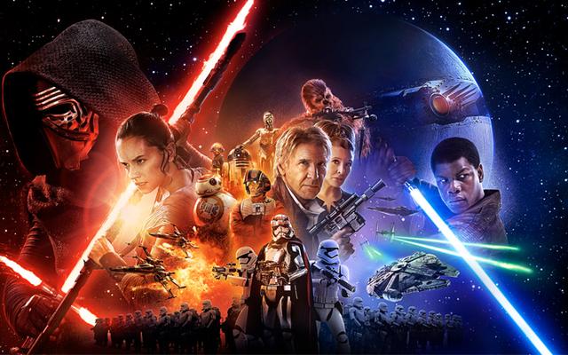 На великолепном плакате к фильму «Звездные войны: Пробуждение силы» изображен гигантский убийца планеты