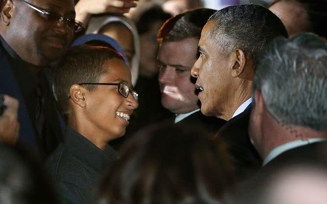アーメド・モハメドがついにオバマ大統領に会った
