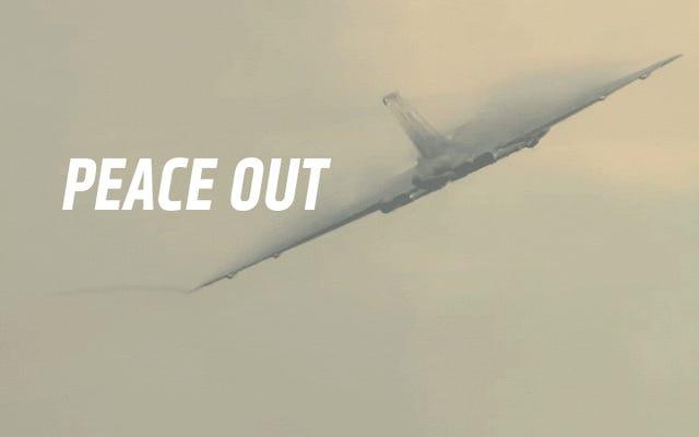 伝説のイギリス爆撃機の最後の飛行を見る