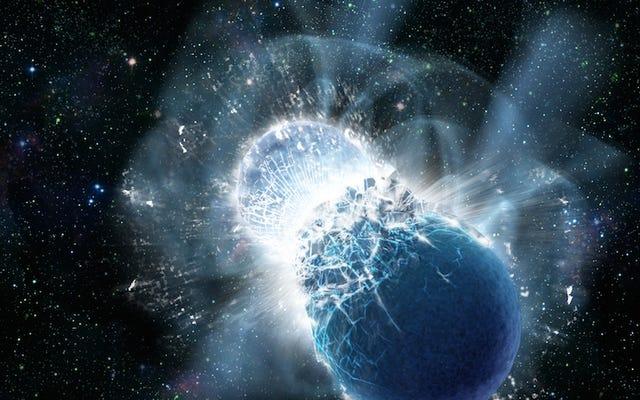¿Qué sucede cuando chocan las estrellas de neutrones?