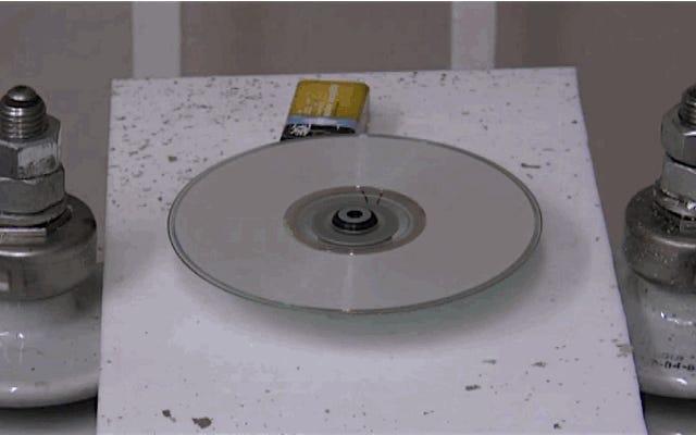 240,000ボルトの電気があれば、DVDの消去は簡単です。