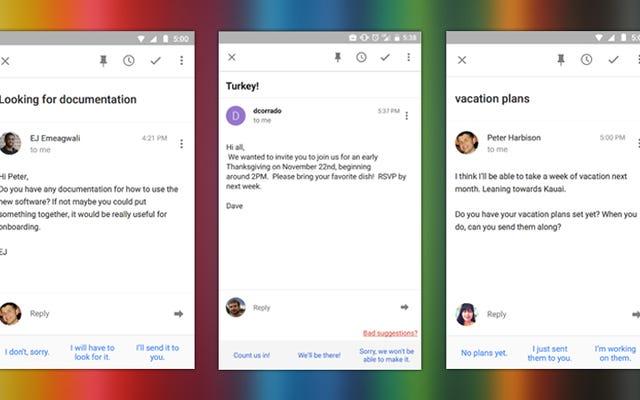 Inbox by Gmail, Ne Söyleyeceğinizi Tahmin Eden Akıllı Yanıtlar Ekliyor