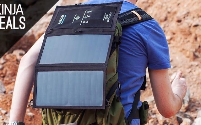 $40 . के लिए सूर्य की शक्ति से एक बार में दो उपकरणों को चार्ज करें