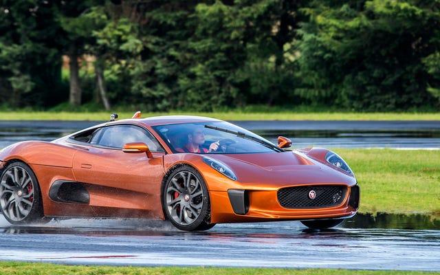 C'est une voiture de James Bond C-X75 de Miracle Jaguar qui existe (et c'est vraiment incroyable de conduire)