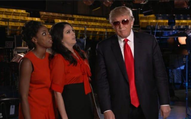 NBC, Cumartesi Gecesi Canlı Sunucusu Olarak Donald Trump'ı Bırakmalarını İsteyen Protestocuları Görmezden Geldi