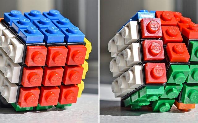 C'est si merveilleusement facile de tricher avec un Lego Rubik's Cube