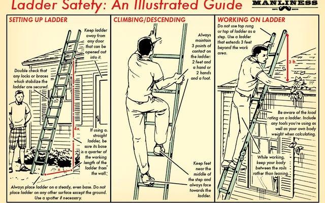 Apprenez les bases de la sécurité des échelles avec ce guide illustré
