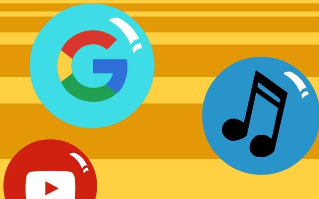 Wyjaśnienie wszystkich mylących, powiązanych ze sobą usług muzycznych Google
