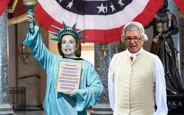 Демократы в Конгрессе устроили сложное театрализованное представление 4 июля, чтобы научить республиканцев важности демократии
