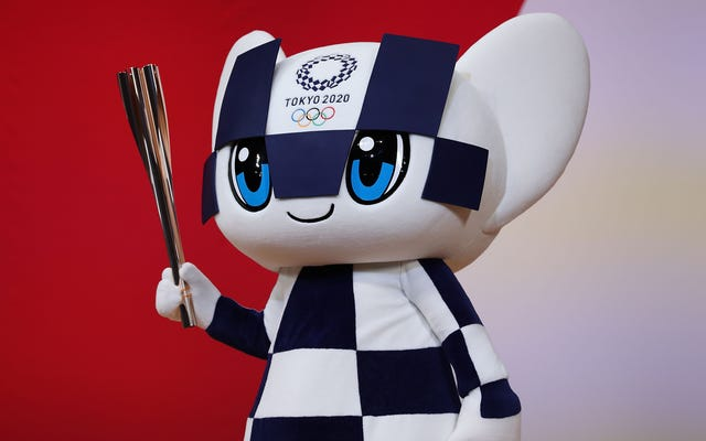 La mascotte olimpica spiega per la centesima volta che ha finito l'urina pulita