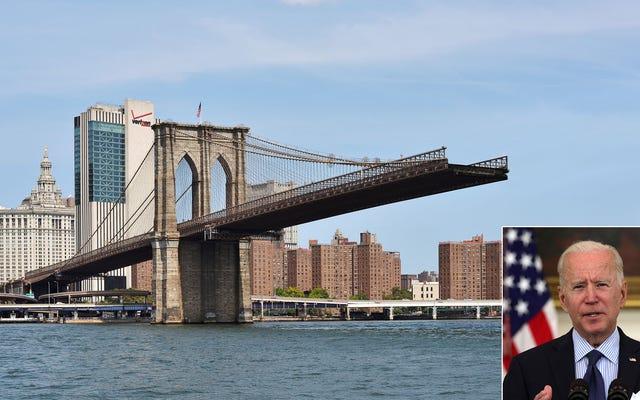 Biden offre una concessione infrastrutturale demolendo parzialmente il ponte di Brooklyn